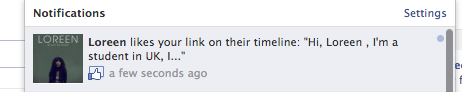 Loreen , liked my #healshortfilm . OMFG